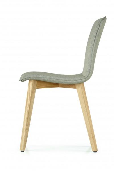 solid dining - 4er Spar-Set Polsterstuhl mit 4-Fuß-Gestell Holz