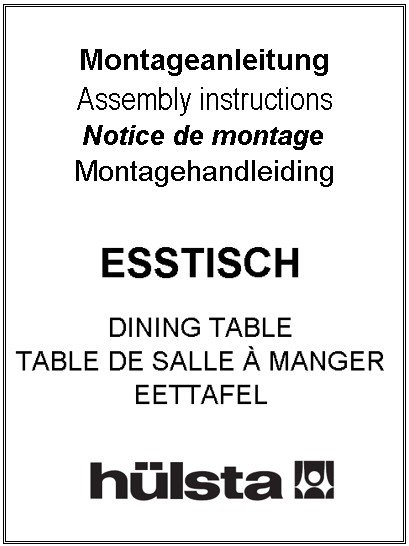 Esstische/ dining tables