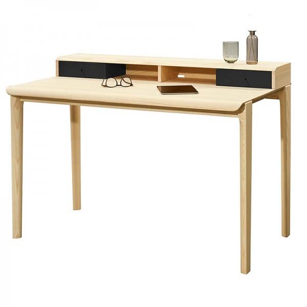 HOME OFFICE - Solitär Schreibtisch mit Aufsatz*