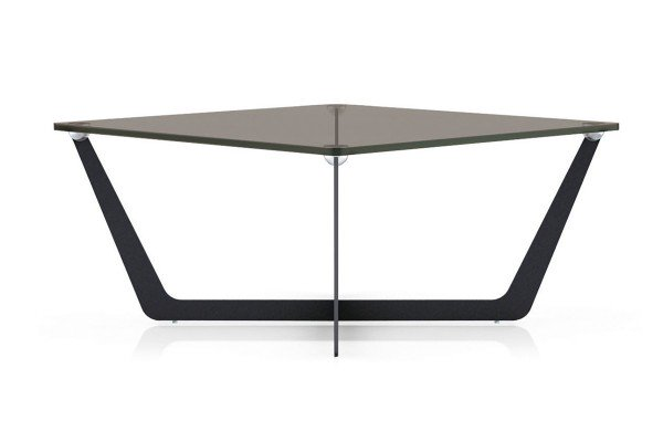 solid living - coffee table made of glass and metal