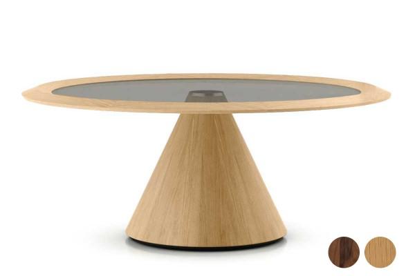 solid lounging - Loungetisch mit Säulenfuß-Gestell