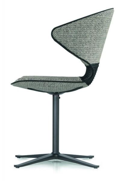 solid dining - 6er Spar-Set Polsterstuhl mit Kreuzfuß-Gestell Metall