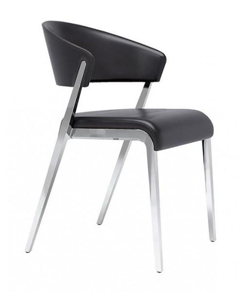 Hulsta Stuhl In Leder Schwarz S 500 4 Fuss